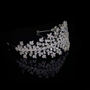 Cubic zirconia collection - crystal extravagance headband - glamorous and luxurious styled headband - opulently decorated with clear cut cubic zirconia crystals. on a sparkly silver headband.