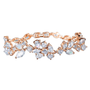 Stunning! Crystal bracelet with high quality cubic zircon crystals on a rose gold plated finish.
