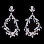 Rhodium plated rhinestone earrings
