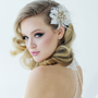 Seraphina Embellished Feather Headpiece - Gold