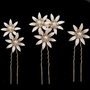 Crystal Bejewelled Hair Pins - Gold