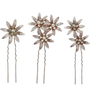 Crystal Bejewelled Hair Pins - Gold