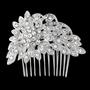 Vintage Sparkle Hair Comb - Silver