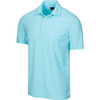 New Men's Greg Norman Protek Micro Heather Pique - Sky Blue - SKGH