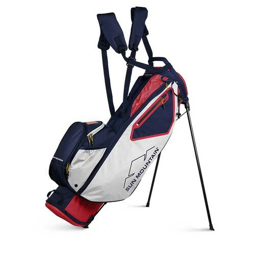 Sun Mountain 2021 3.5 LS Stand Bag - Red / White / Navy