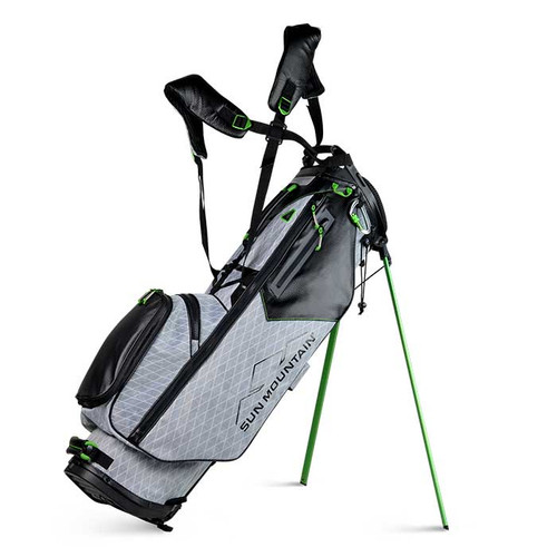 New Sun Mountain VX Stand Bag - (Gunmetal / Black / Lime)