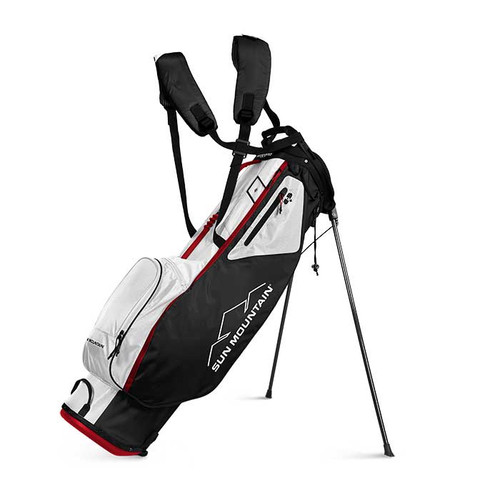 New Sun Mountain 2.5+ Stand Bag (Black / White / Red)
