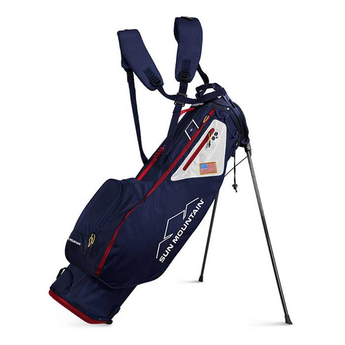 New Sun Mountain 2.5+ Stand Bag (Navy / White / Red)