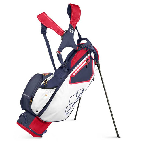 Sun Mountain 2022 3.5 LS Stand Bag - Red / White / Navy