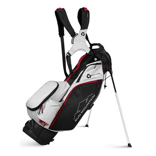 Sun Mountain 2022 Eco-Lite Stand Bag - Black / White / Red