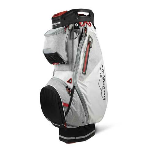 New 2022 Sun Mountain Sync Cart Bag - Black / White / Charcoal / Red