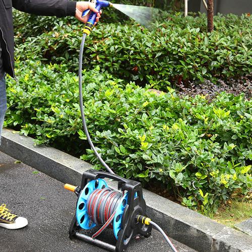 Garden Hose Reel Truck Portable Watering Spray Pipe Cart Trolley Storage Case
