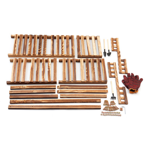 Solid Wood Flower Plant Display Stand Home Garden Plant Flower Pot Storage Rack Durable Balcony Flower Stand Decorations