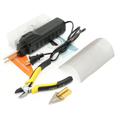 AC 220V Hot Stapler Bumper Fender Fairing Welding Machine Welding Tool Plastic Repair Kit