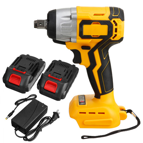 """21V 320N.M 1/2 Brushless Cordless Electric Impact Wrench W/ 2pcs Batteries"""""""