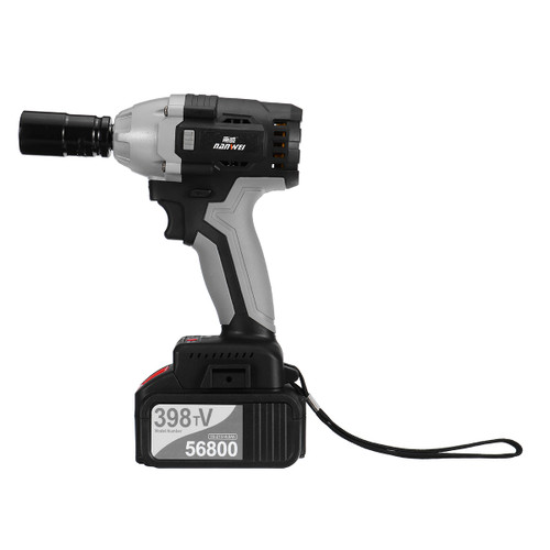 NANWEI 398TV 380N.M Brushless Electric Impact Wrench Adjustable Speed Regulation with 4.0/6.0Ah Lithium Battery and Charger