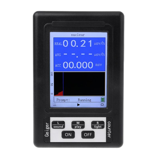 Upgraded Geiger Counter Nuclear Radiation Detector Personal Dosimeter Marble Radiation Tester