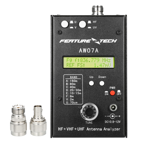 AW07A HF/VHF/UHF 160M Impedance SWR Antenna Analyzer Meter for Ham Radio Hobbyists