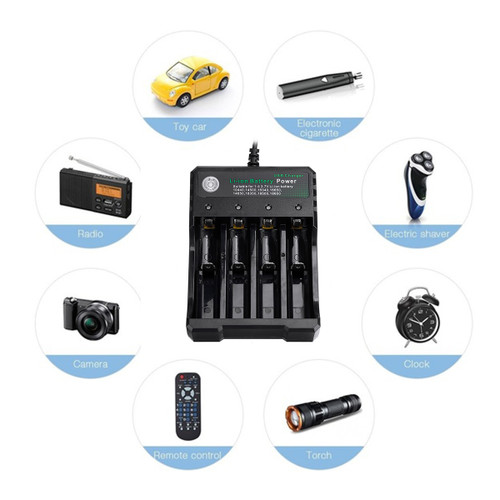 Charger 4 Slot 3.7v Battery Charger Multifunction Charge Universal