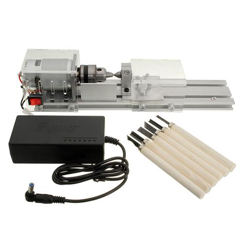 DC 24V 96W Mini Lathe Beads Saw Machine Set Wood Working DIY Beads Polishing Cutting Drill