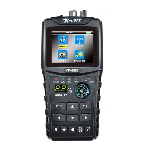 VF-6800 / VF-6800P Satellite Finder Meter Support DVB-T2/DVB S2/DVB C Combo Sat Finder Meter For Satellite TV Receiver DVD T2 Tuner