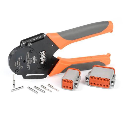 IWD-16 Crimper Harlley Cater Piller Hand Tool For Deutsch Connector Deutsch DT,DTM,DTP Terminal W2 Pliers 18/16/14 AWGl