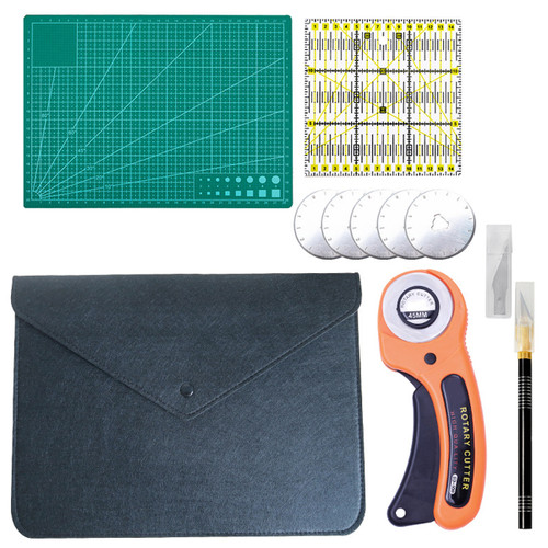 Clothing Sewing Tools Kit Hand Cutting KniIfe Set Rotary Cutter Patchwork Cloth