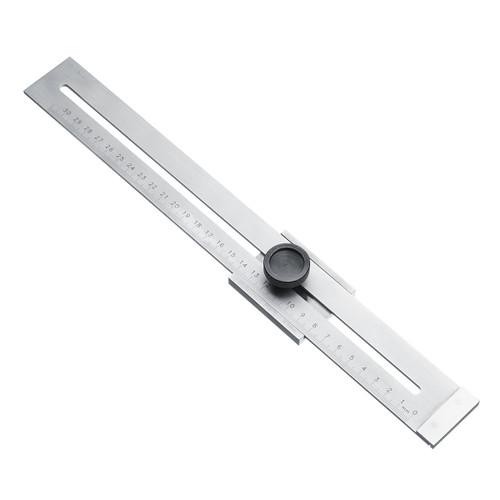 Carbon Steel 0.1mm Precision Parallel Ruler Marker Marking Gauge Line Ruler 300mm