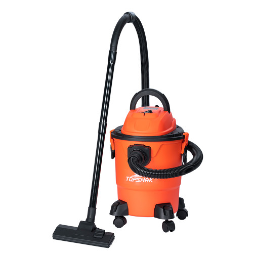 Topshak TS-VC1 5 Gallon Wet and Dry Vacuum 3-Functions Vacuum 16Kpa Dry/Wet/Blow Cleaner with Wheel