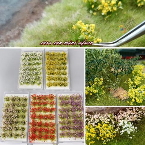 Mini Flower Clusters Ciniature Model Military Model Scenario Train Sand Table DIY Modelling Architecture Scenery Materials Decorations
