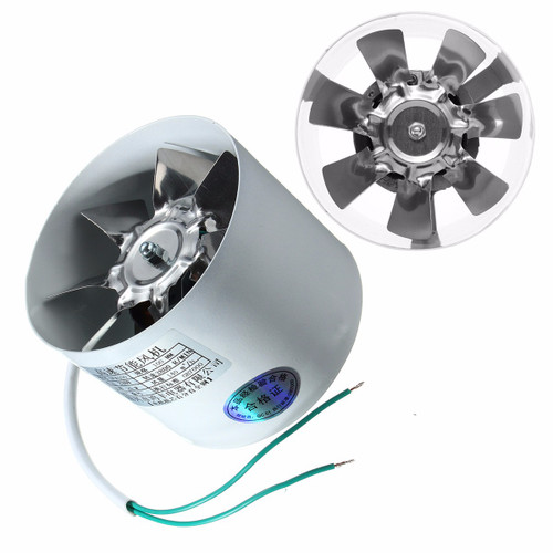 "4 Inline Duct Booster Fan Air Exhaust Home Blower Grow Vent Ventilator Kitchen Ventilation Fan"""