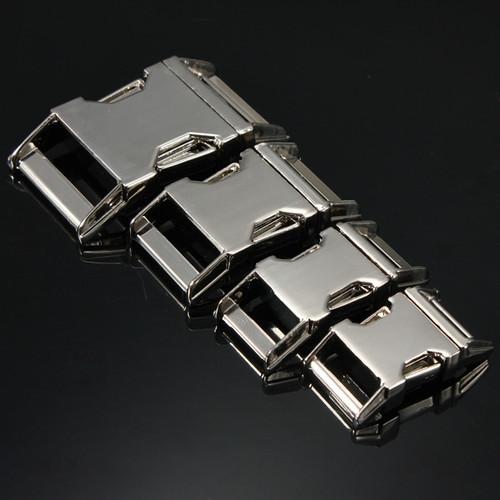 Metal Side Release Buckle For Paracord Bracelet Zinc Alloy Various Size