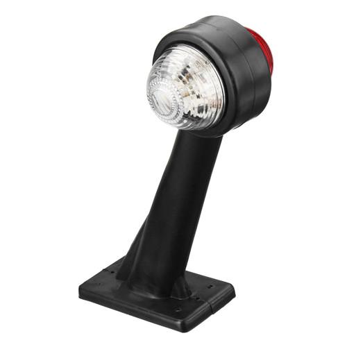 Left LED Double Side Marker Clearance Lights Turn Lamp Red&White Color for Truck Trailer Caravan