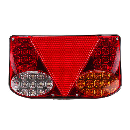Pair 12V LED Rear Tail Lights Turn Signal Indicator Lamp For Marine Car Trailer Truck Lorry Pick-Up