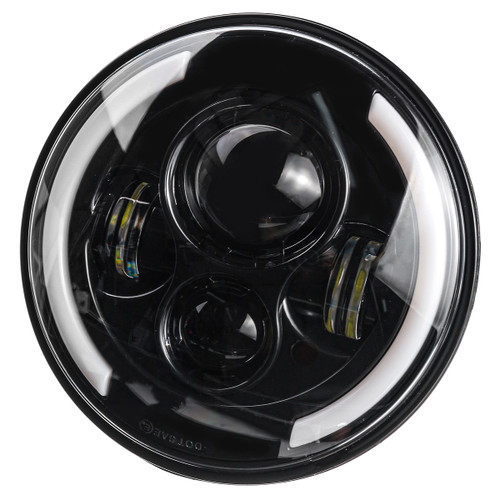 """7 Motorcycle LED Projector Headlight Hi-Lo Beam Round For Jeep For Wrangler"""""""