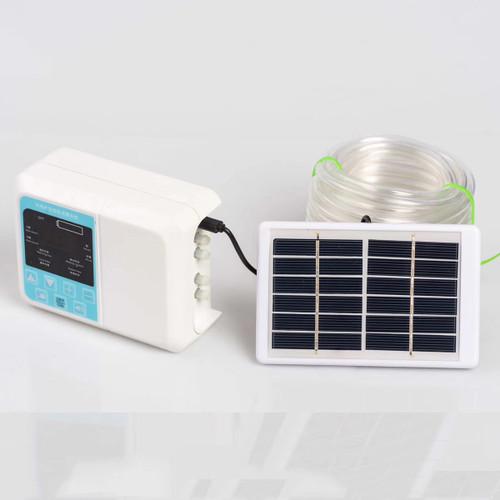 Solar Intelligent Drip Irrigation System Waterproof Auto Watering Plant Timer USB Charging