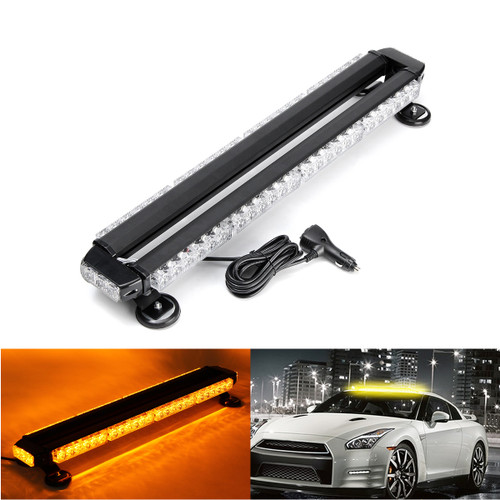 Car Emergency Flashing Strobe Lamp Work Light Bar 54 LED Double-Sided Warning Light Assembly