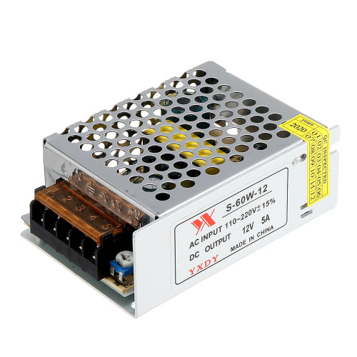 Geekcreit AC 100-240V to DC 12V 5A 60W Switching Power Supply Module Driver Adapter LED Strip Light