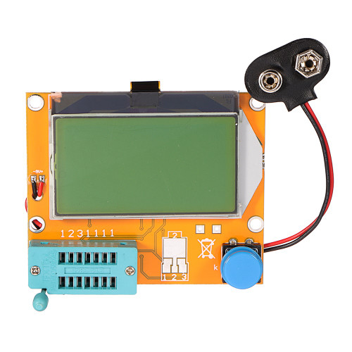 Geekcreit LCR-T4 12864 LCD Graphical Transistor Tester Resistance Capacitance ESR SCR Meter