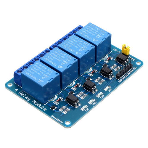 Geekcreit 5V 4 Channel Relay Module For PIC ARM DSP AVR MSP430 Geekcreit for Arduino - products that work with official Arduino boards