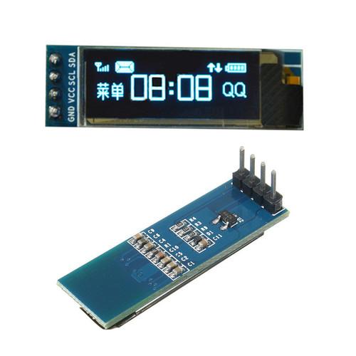 Geekcreit 0.91 Inch 128x32 IIC I2C Blue OLED LCD Display DIY Module SSD1306 Driver IC DC 3.3V 5V