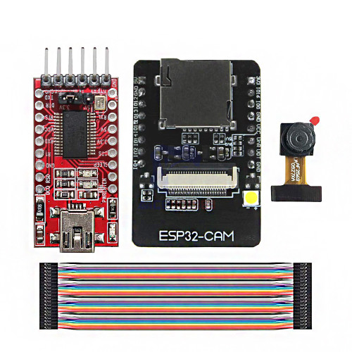 ESP32-CAM WiFi + bluetooth Development Board ESP32 with FT232RL FTDI USB to TTL Serial Converter 40 Pin Jumper