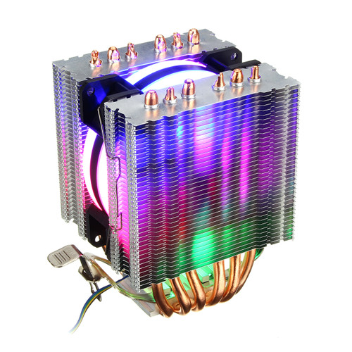 DIY Removable CPU Cooler RGB Cooling Fan For Intel 775 1150 1151 1155 1156 1366 AMD AM4