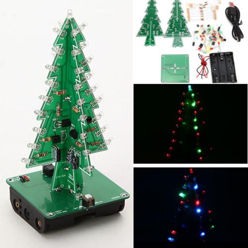 Geekcreit DIY Christmas Tree LED Flash Kit 3D Electronic Learning Kit