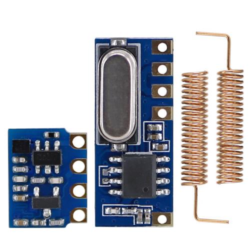 OPEN-SMART Long Range 433MHz Wireless Transceiver Kit Mini RF Transmitter Receiver Module + 2PCS Spring Antennas