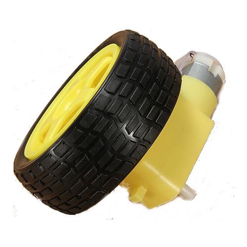 Rubber Wheel + 3V-6V DC TT Motor For  Smart Robot Car