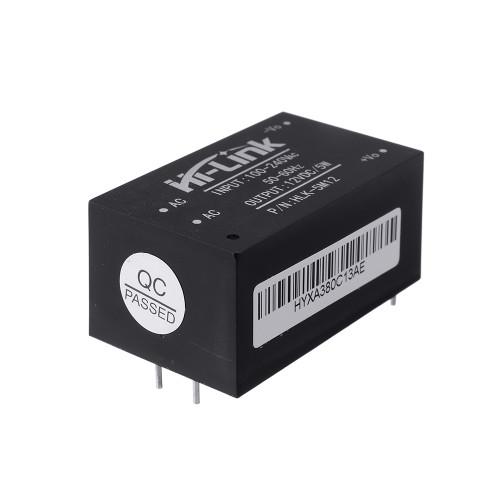 HLK-5M12 AC 100-240V to DC 12V 5W AC-DC Low Ripple Switching Power Supply Module Power Step Down Buck Regulator
