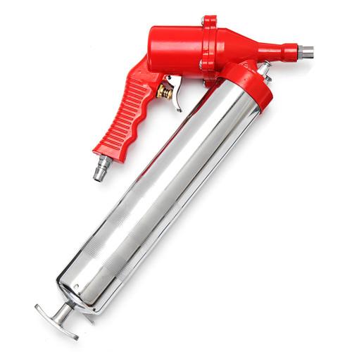 Manual One-Hand Grip Air Pneumatic Compressor Pump Grease Guun Red