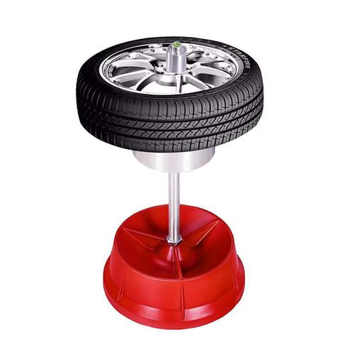 Portable Hub Wheel Tire Balancer With Bubble Level Heavy Duty Rim Mini Auto Truck Tyre Balancing Machine Red