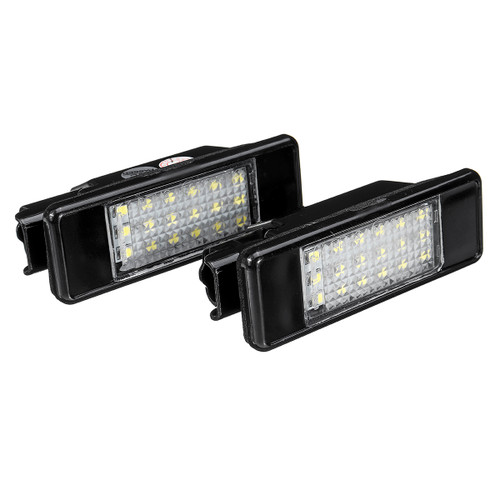 Pair LED License Plate Lights 6340.A3 For Peugeot 106 207 307 308 406 407 508 Citroen C3 C4 C5